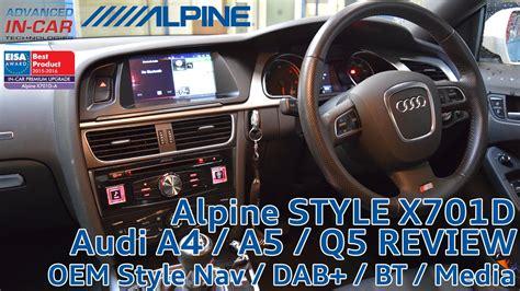 best car repair manuals 1998 audi a4 navigation system audi a4 a5 q5 navigation retrofit alpine x701d youtube