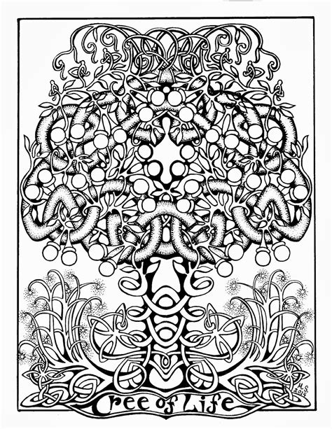 Coloring Page Tree Of Life | paste and color the tree of life coloring page some