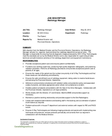 Comprehensive Resume Sample Format by 10 Radiologist Job Description Templates Pdf Doc Free Amp Premium Templates