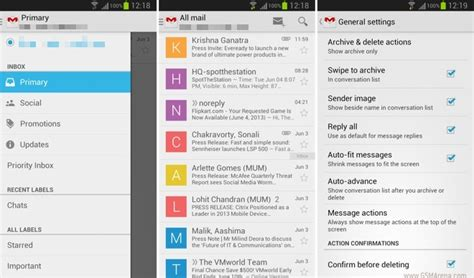 gmail apps for android gmail 4 5 for android starts rolling out