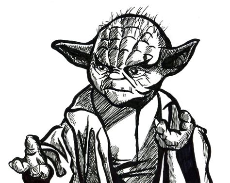 line drawing yoda line drawing by hanfaw888 on deviantart