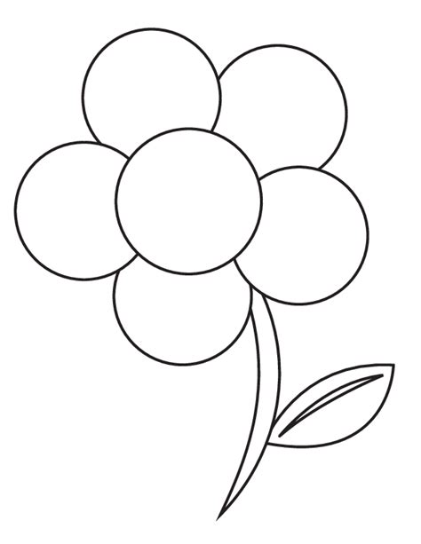 simple flower template coloring home