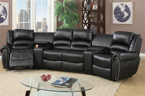 home theater recliner sofa 5 pcs reclining home theater black sectional