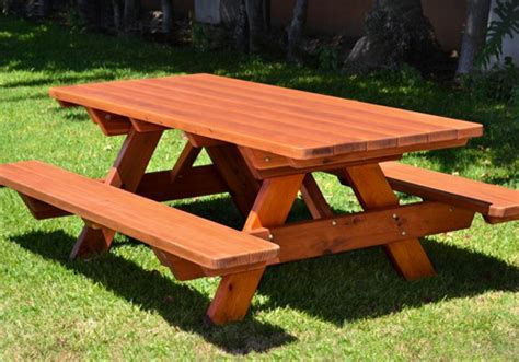 wooden garden picnic table and bench solid wooden timber outdoor garden furniture and picnic