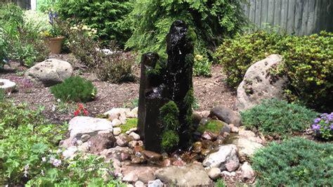 water feature rock fountain landscape ideas monroe