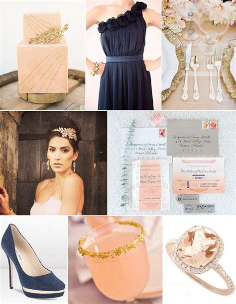 wedding themes with rose gold wedding theme inspiration board rose gold and navy