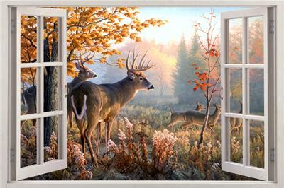 whitetail deer home decor whitetail deer window view decal wall sticker home decor