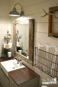 Decor Ideas For Bathroom rustic mirror with frame built out of old ammo boxes