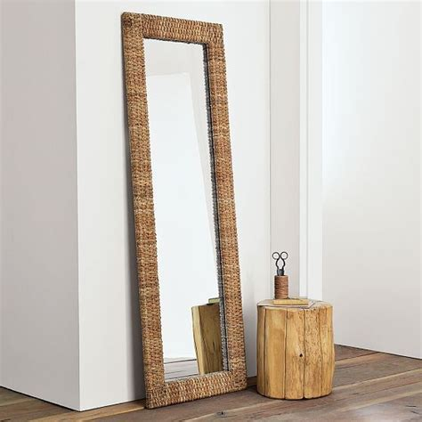 woven floor mirror modern floor mirrors by west elm