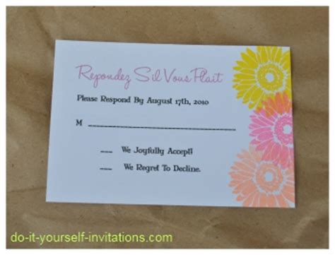 diy gerbera wedding invitations diy gerbera wedding invitations