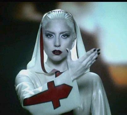 alejandro illuminati gaga photos with white hair and lipstick gaga