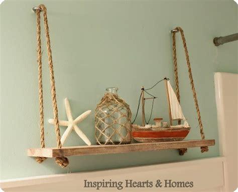 Nautical Rope Shelf by Nautical Rope Swing Shelf