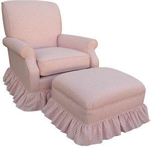 Pink Nursery Chair - pink gingham check upholstered rocker glider chair nursing