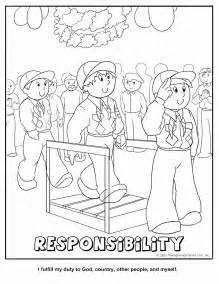 scout coloring pages cub scout responsibility coloring page