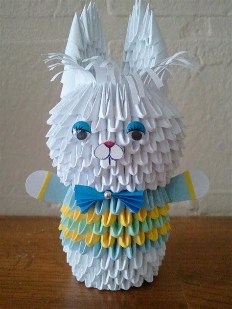 Boy Origami - 3d origami bunny boy by akvees on zibbet