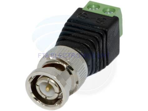 Connector Cctv Bnc F 2pcs cat5 to cctv coaxial bnc balun