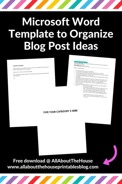 12 Different Ways To Plan Blog Posts Using Pen And Paper Post Template Word