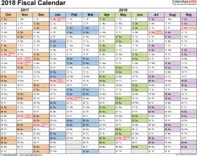 Calendar 2018 Year Fiscal Calendars 2018 As Free Printable Pdf Templates