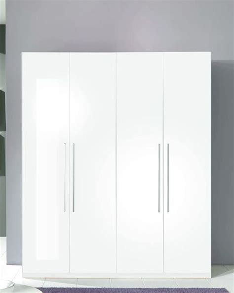 4 door wardrobe blanca in white modern style made in italy