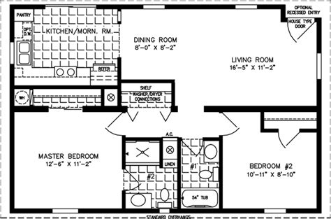 800 Square Feet Dimensions by 800 Sq Ft House Plan Manufactured Home Floor Plans 800