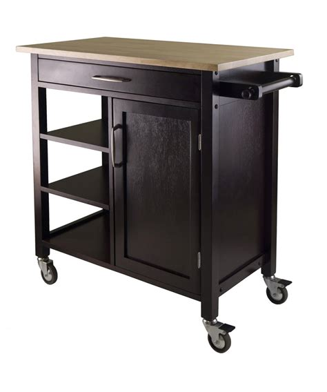 wood kitchen island cart winsome wood mali kitchen cart beyond stores