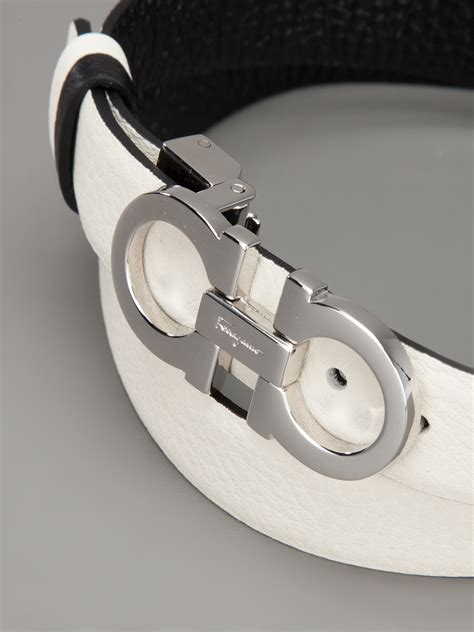 Ferragamo White ferragamo belt in white lyst