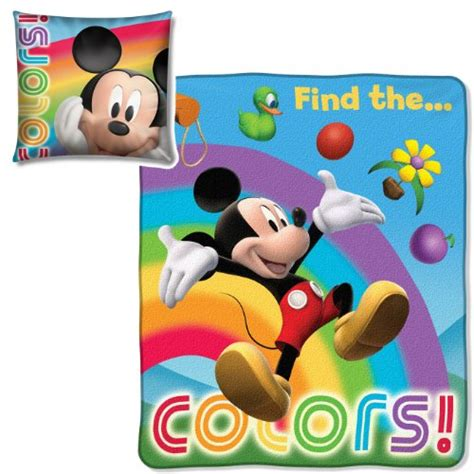 mickey mouse pillow and blanket set lowest price northwest company micro raschel pillow and