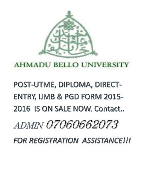 abu post utme tutorial re ahmadu bello university 2015 2016 post utme screening