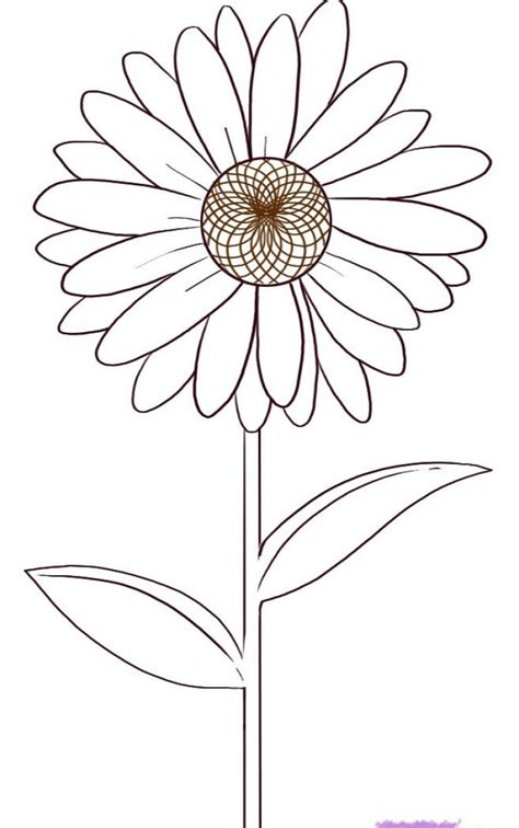 A Drawing Of A Flower by How To Draw A Flower Step By Step For