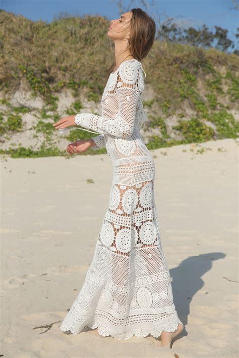 Robe Longue Crochet - robe longue crochet miss june hippie