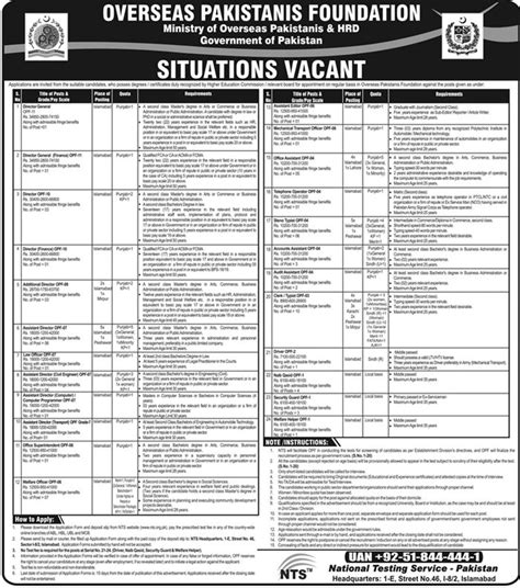 nts paper pattern for jobs overseas pakistanis foundation opf jobs 2018 nts test