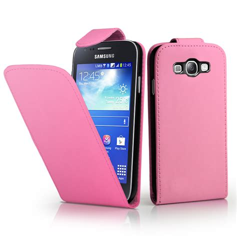 Casing Samsung Ace 3 rosa ciaro flip leather custodia per samsung galaxy ace 3