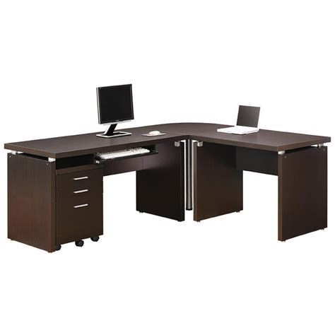 modern desk set modern desk sets salem l desk set eurway furniture