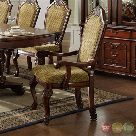napa valley set of 2 napa valley cherry formal dining set with pedestals cm3005