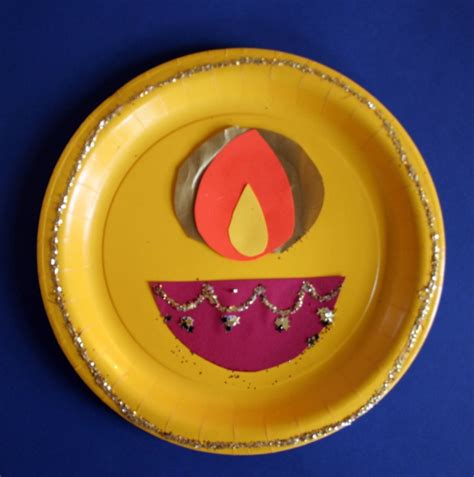 Diwali Paper Craft - simple diwali paper plate craft diwali crafts for