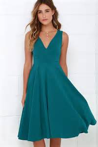 color dresses lovely teal blue dress midi dress sleeveless dress