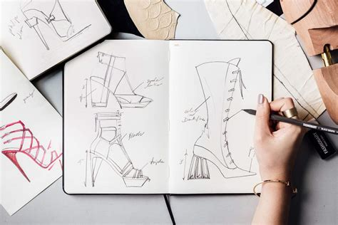 sketchbook templates fashionary shoes a5