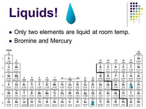 metal that is liquid at room temperature the periodic table ppt