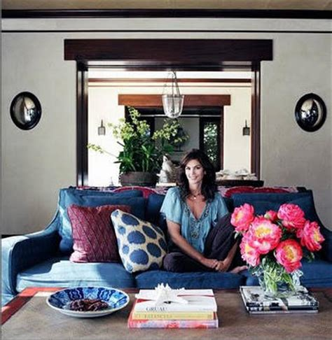elle decor celebrity homes models at home where models live