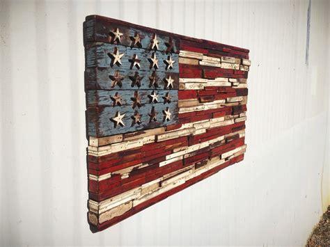 Handmade American Flag - custom scrap wood american flag by the last workshop