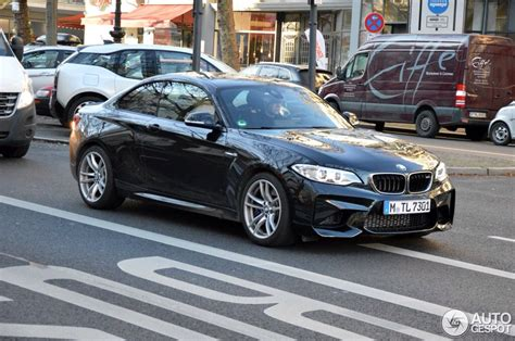 bmw black sapphire black bmw m2 shows up again in munich