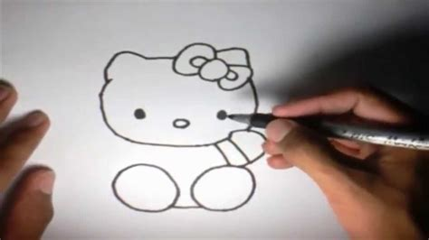 imagenes de uñas de hello kitty como dibujar a hello kitty l how to draw hello kitty youtube