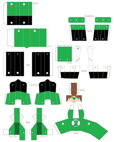 Paper Folding Figures - green lantern papercraft figure by pagplax on