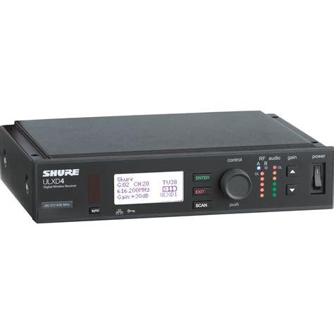 Mic Wireless Shure Ulx 4 B shure ulxd4 digital wireless receiver ulxd4 h50 b h photo
