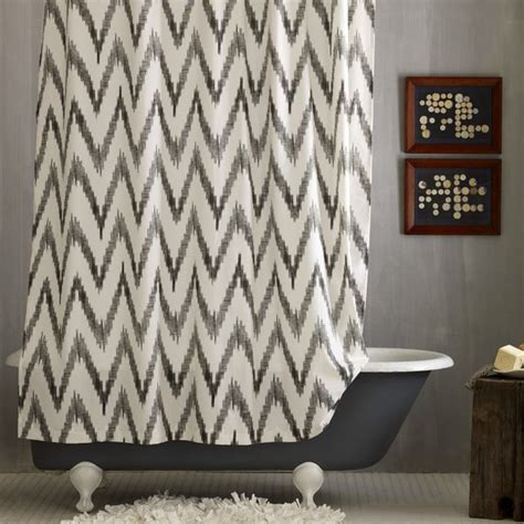 chevron shower curtain modern shower curtains by