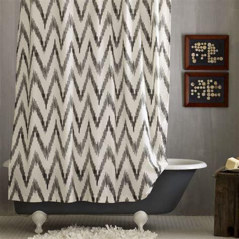 westelm shower curtain chevron shower curtain modern shower curtains by