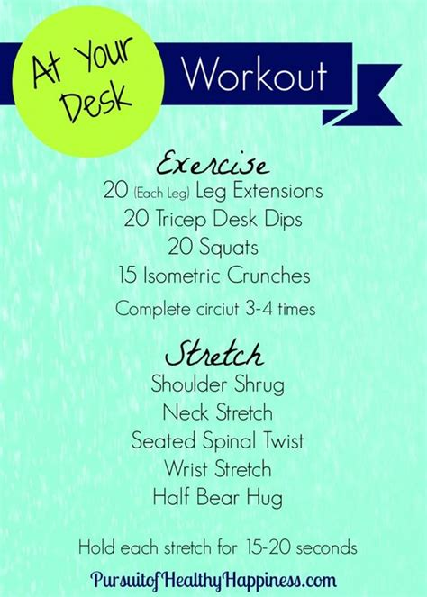 workouts at your desk at your desk workout workouts desk workout