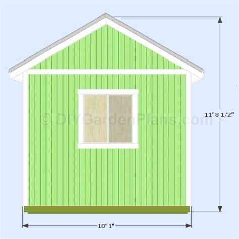 Saltbox Home Plans 12x10 gable shed plans