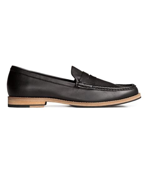 h loafers h m loafers in black for lyst