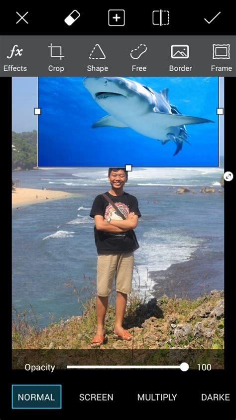 tutorial dasar edit foto di photoshop tutorial cara edit foto ikan paus terbang dengan picsart